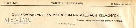 """""""Tygodnik ilustrowany"""" 1923 r"""