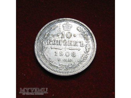 10 kopiejek 1908
