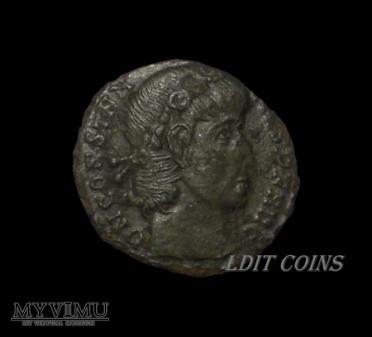 1/4 follisa Konstantyn I Wielki AE4