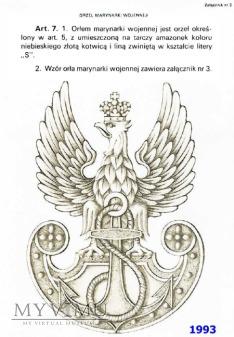 Orzełek metalowy MW wz.93