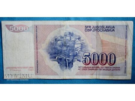 5000 Dinarów 1985