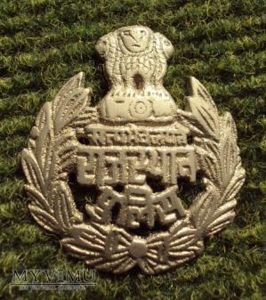 Indyjska odznaka wojskowa lub policyjna