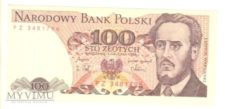 100 złotych PRL 1988