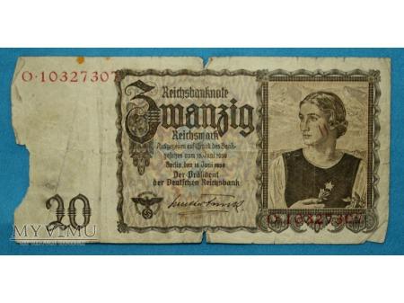 20 Reichsmark 1939