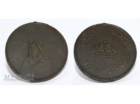 Medal Pruski za IX lat służby w wojsku