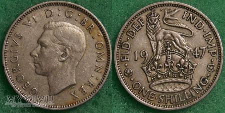 Wielka Brytania, 1 SHILLING 1947