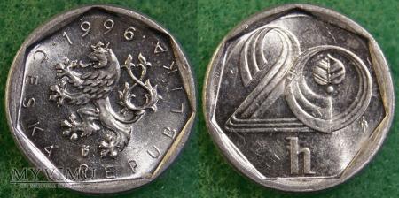 Czechy, 20 Haléřů 1996