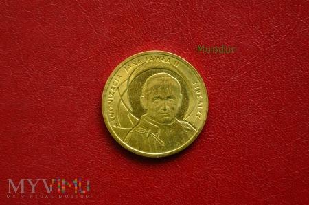 Moneta: 2 złote - kanonizacja Jana Pawła II