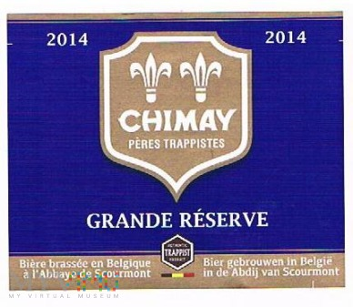 chimay 2014 grande rèserve