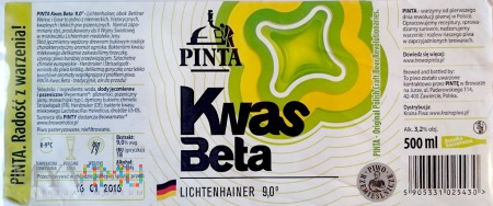 Pinta, Kwas Beta