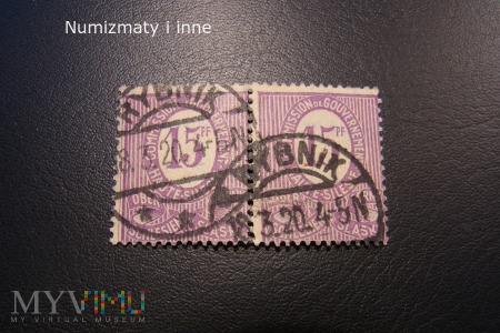 śląskie znaczki plebiscytowe za 15 fenigów