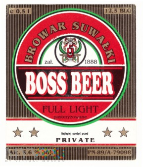 Boss beer