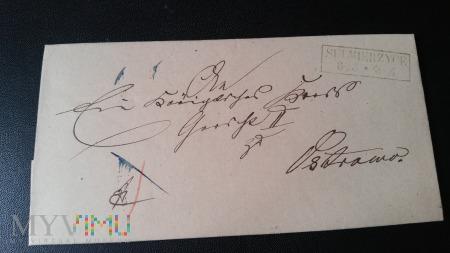 Duże zdjęcie PISMO SULMIERZYCE - OSTROWO 1867