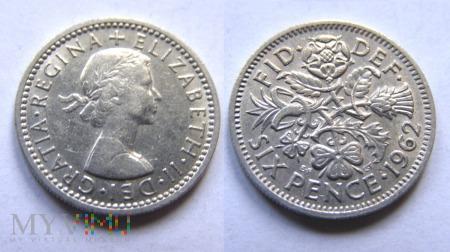 Wielka Brytania, SIX PENCE 1962
