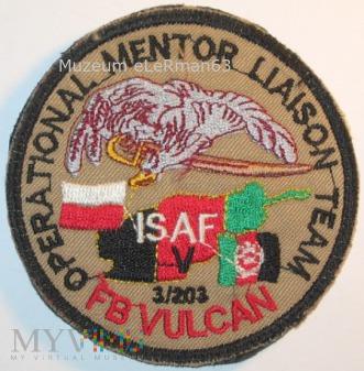 OMLT ISAF Afganistan. FB VULCAN. Zmiana V.