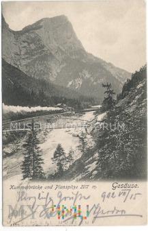 Gesäuse Kummerbrücke und Planspitze - 1902