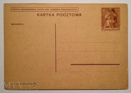 Kartka pocztowa Rzeczpospolita 15 groszy, X-1938