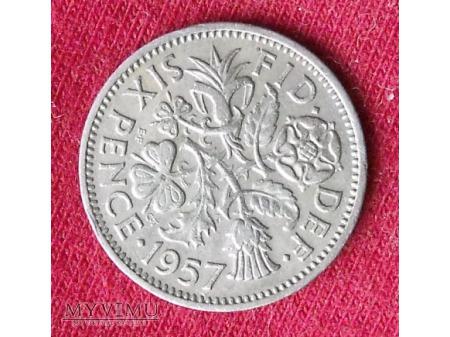 Elżbieta II 6 pensów