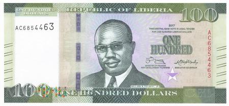 Liberia - 100 dolarów (2017)