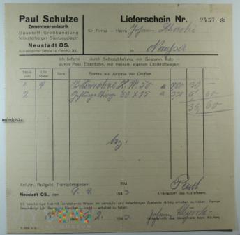 Zamentwarenfabrik Paul Schulze Neustadt OS.
