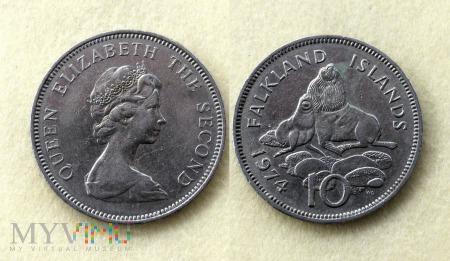 Falklandy, 10 Pence 1974
