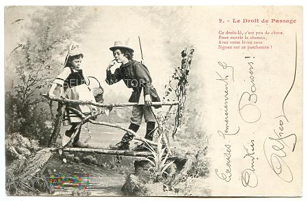 Pocztówka artystyczna 1902