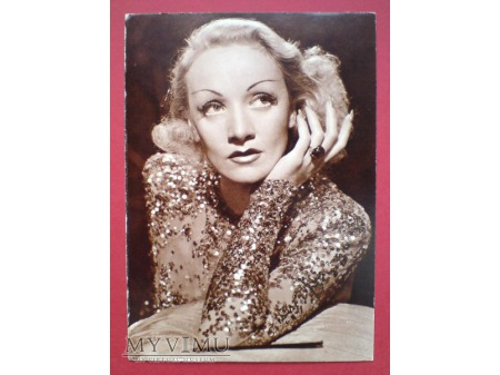 Marlene Dietrich POCZTÓWKA w sepii fotografia