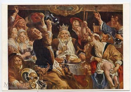 Jakob Jordaens - Król pije