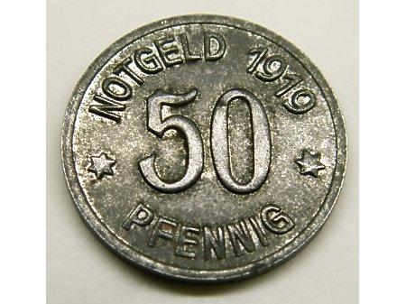 Moneta zastępcza 50 Pf- 1919 rok Racibórz