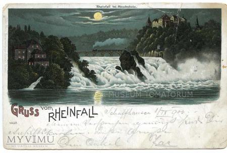 Rheinfall w świetle księżyca