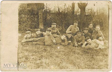 Żołnierze pruscy podczas wypoczynku.