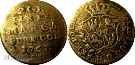 2 Grosze 1767 SAP (półzłotek)