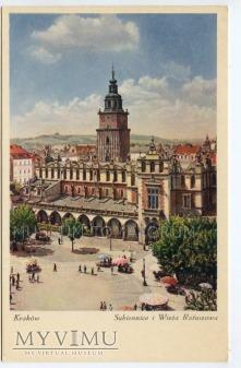 Kraków - Rynek - Sukiennice - lata 30-te