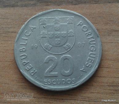 20 ESCUDOS-PORTUGALIA 1987