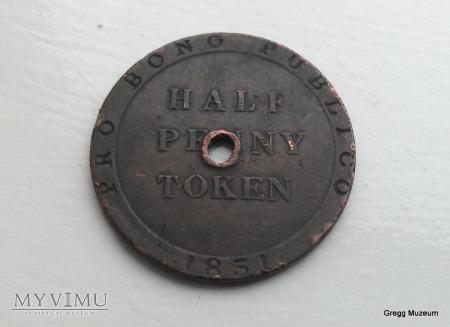 Half Penny Token 1831