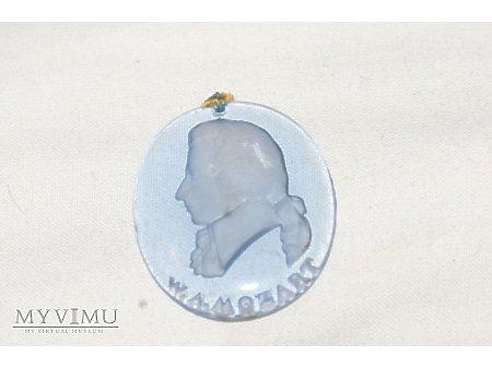 Szklany medalion WHW Wolfgang Amadeus Mozart