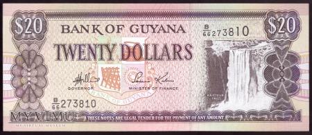 Gujana, 20 dolarów