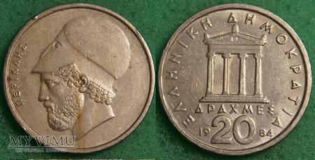 Grecja, 20 Drachm 1984