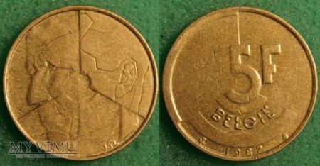 Belgia, 5 Francs 1987