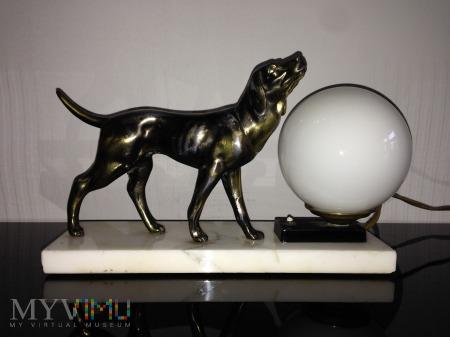 Duże zdjęcie Lampka. Pies myśliwski. Art Deco.