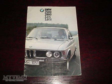 Prospekt BMW 2500, 2800, 3.0S, 3.0 Si