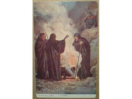 Trzy Wiedźmy CZAROWNICA Szekspir Makbet