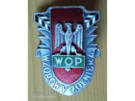 Odznaka Wzorowy Żołnierz WOP wzór I błędny