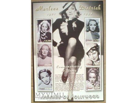 Duże zdjęcie Marlene Dietrich GHANA 2003 Blok znaczki