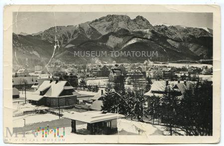 Zakopane 1956 - Widok ogólny i Giewont
