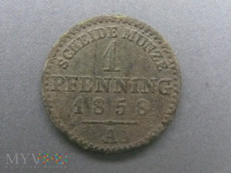 1 fenig 1858