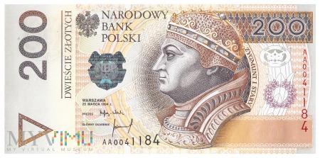 Polska - 200 złotych (1994)
