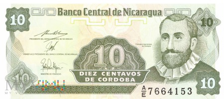 Nikaragua - 10 centavos (1991)
