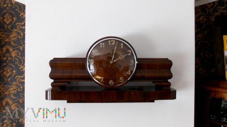 Drewniany zegar z konsolą - Art Deco