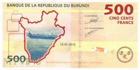 Burundi - 500 franków (2015)